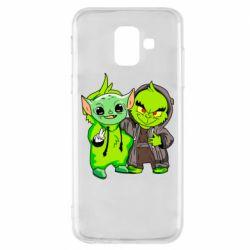 Чехол для Samsung A6 2018 Yoda and Grinch