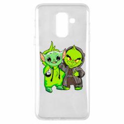 Чехол для Samsung A6+ 2018 Yoda and Grinch