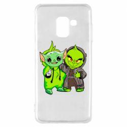 Чехол для Samsung A8 2018 Yoda and Grinch