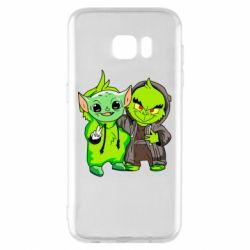 Чехол для Samsung S7 EDGE Yoda and Grinch