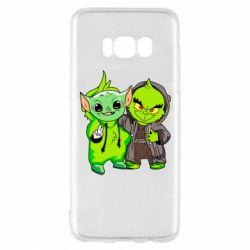 Чехол для Samsung S8 Yoda and Grinch