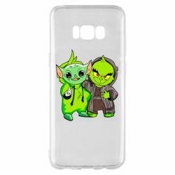 Чехол для Samsung S8+ Yoda and Grinch