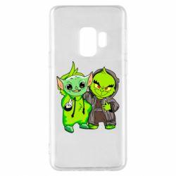 Чехол для Samsung S9 Yoda and Grinch