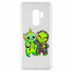 Чехол для Samsung S9+ Yoda and Grinch