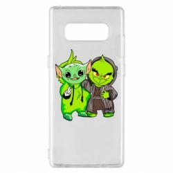 Чехол для Samsung Note 8 Yoda and Grinch