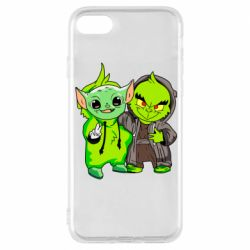Чехол для iPhone 8 Yoda and Grinch