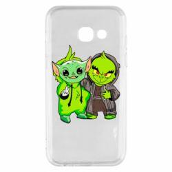 Чехол для Samsung A3 2017 Yoda and Grinch