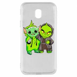 Чехол для Samsung J3 2017 Yoda and Grinch
