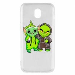 Чехол для Samsung J5 2017 Yoda and Grinch