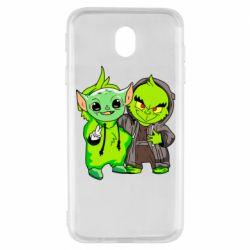 Чехол для Samsung J7 2017 Yoda and Grinch