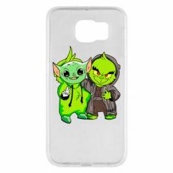 Чехол для Samsung S6 Yoda and Grinch