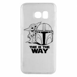 Чехол для Samsung S6 EDGE Yoda and Mandalore Helmet