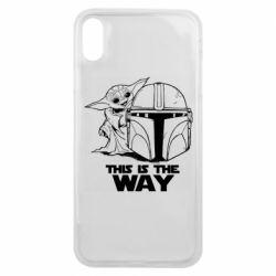 Чехол для iPhone Xs Max Yoda and Mandalore Helmet