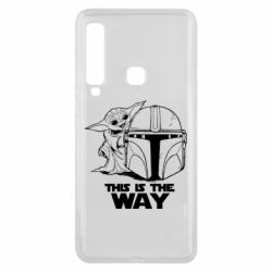 Чехол для Samsung A9 2018 Yoda and Mandalore Helmet