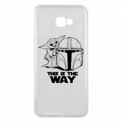 Чехол для Samsung J4 Plus 2018 Yoda and Mandalore Helmet