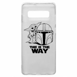 Чехол для Samsung S10+ Yoda and Mandalore Helmet