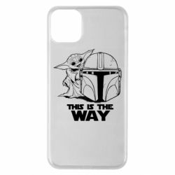 Чехол для iPhone 11 Pro Max Yoda and Mandalore Helmet