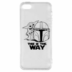 Чехол для iPhone5/5S/SE Yoda and Mandalore Helmet