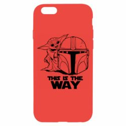 Чехол для iPhone 6/6S Yoda and Mandalore Helmet