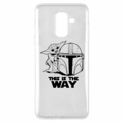 Чехол для Samsung A6+ 2018 Yoda and Mandalore Helmet