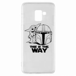 Чехол для Samsung A8+ 2018 Yoda and Mandalore Helmet