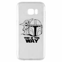 Чехол для Samsung S7 EDGE Yoda and Mandalore Helmet