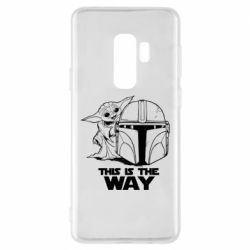 Чехол для Samsung S9+ Yoda and Mandalore Helmet