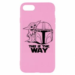 Чехол для iPhone 8 Yoda and Mandalore Helmet