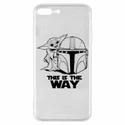 Чехол для iPhone 8 Plus Yoda and Mandalore Helmet