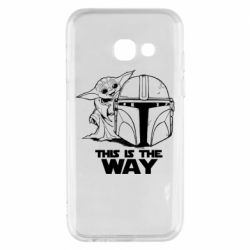 Чехол для Samsung A3 2017 Yoda and Mandalore Helmet