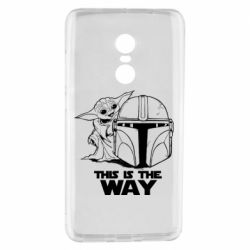 Чехол для Xiaomi Redmi Note 4 Yoda and Mandalore Helmet