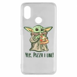 Чехол для Xiaomi Mi8 Yoda and pizza