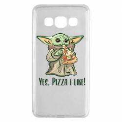 Чехол для Samsung A3 2015 Yoda and pizza