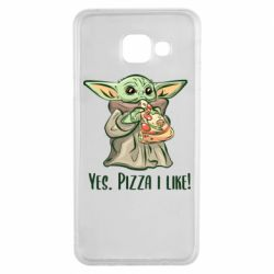 Чехол для Samsung A3 2016 Yoda and pizza