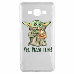 Чехол для Samsung A5 2015 Yoda and pizza