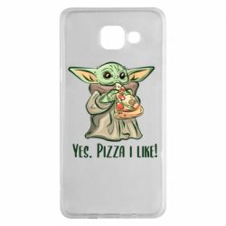 Чехол для Samsung A5 2016 Yoda and pizza