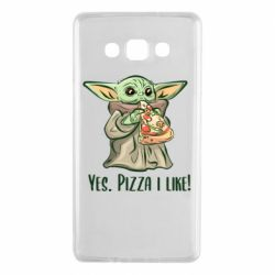Чехол для Samsung A7 2015 Yoda and pizza