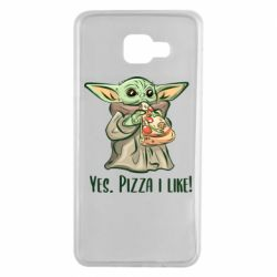 Чехол для Samsung A7 2016 Yoda and pizza