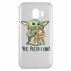 Чехол для Samsung J2 2018 Yoda and pizza
