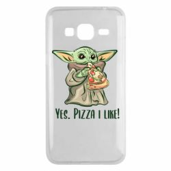 Чехол для Samsung J3 2016 Yoda and pizza