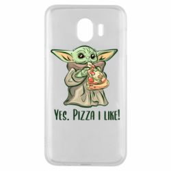 Чехол для Samsung J4 Yoda and pizza