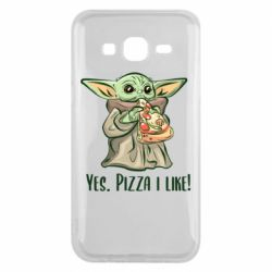Чехол для Samsung J5 2015 Yoda and pizza