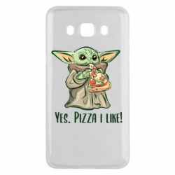 Чехол для Samsung J5 2016 Yoda and pizza