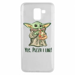 Чехол для Samsung J6 Yoda and pizza