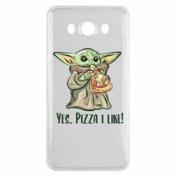 Чехол для Samsung J7 2016 Yoda and pizza