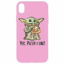 Чехол для iPhone XR Yoda and pizza