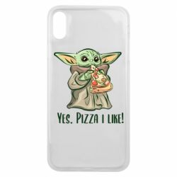 Чехол для iPhone Xs Max Yoda and pizza