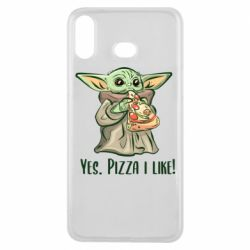Чехол для Samsung A6s Yoda and pizza