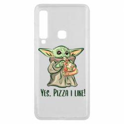 Чехол для Samsung A9 2018 Yoda and pizza