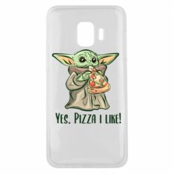 Чехол для Samsung J2 Core Yoda and pizza